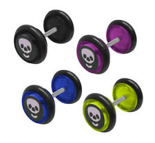 Pair of Acrylic Fake Ear Plugs 14 Gauge - 4 Colors Available