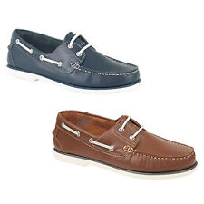 Mens Leather Moccasin Deck  Boat Shoes Gents   6 -  12