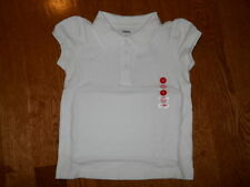 NWT Gymboree Uniform Shop White Polo 3 4 5 6 7