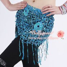 belly dance hip scarf  sequins triangle shawl 11colour