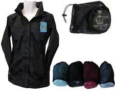 LADIES BREATHABLE WATERPROOF JACKET WITH BAG, SIZES 10-20, IN 5 COLOURS