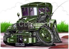 Dodge Army Jeep Cartoon Tshirt 4073 military power