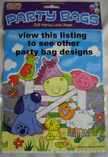MULTI BIRTHDAY  PARTY LOOT BAGS PACK OF 10  *VARIOUS GENERIC DESIGNS AVAILABLE*