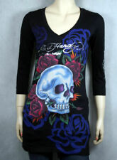 ED Hardy women's SKULL ROSES 3/4 sleeve T-shirt dress