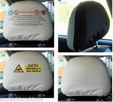 Head Rest Cover taxi minicab no food,drink,smoking CCTV