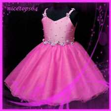 Hot Pink Gorgeous Wedding Party Flower Girls Dress 2-8Y