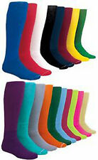 NEW! 1 Pair Solid Soccer Socks in Your Color/Size!