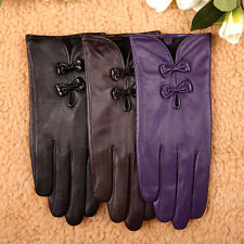 Women's GENUINE LAMBSKIN LEATHER driving riding gloves