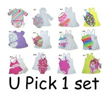 2 3 PC BABY GIRL SWIM SUIT SHIRT SWIMSUIT COVER-UP WEAR KIDS INFANTS SWIMSUIT