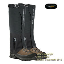 Black Crystal Hiking Walking Ski Women's Gaiters Waterproof Nylon New w/Tag