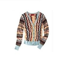 Missoni for Target Womens V-Neck Knit Cardigan Sweater Zigzag All Sizes NWT