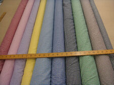poly-cotton GINGHAM FABRIC,sold by mtr (100cm)10COLOURS,0.5cm check,114cm wide