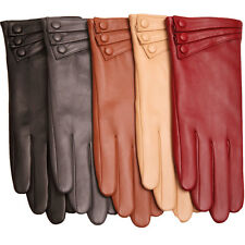 New WARMEN Women's GENUINE LAMBSKIN leather Warm Winter gloves Christmas gift