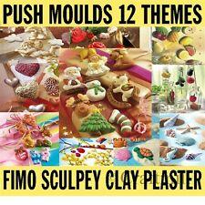 1 PUSH MOULD Mold Fimo Sculpey Polymer Clay Casting Plaster, Soap CHOOSE A THEME
