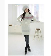 New Japan Fashion Cute Penguin Image High Collar Cotton And Wool Blend Sweater