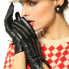 NEW WARMEN Women's Real GENUINE LAMBSKIN Winter Warm leather gloves 4 Color