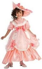 Girls Child Deluxe Southern Girl Georgia Peach Pink Dress Costume W/ Hat