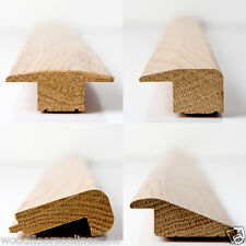 Solid wood floor trims 1m -  Threshold, Reducer, End Profile, Stair nosing