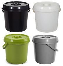 Nappy Bucket With Lid Plastic 14L 3Gallons Bin Pail Storage Container Handle New