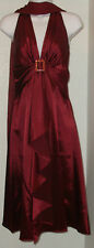 NWOT Genuine CINDERELLA burgundy red halter dress, size XS, M, 2XL