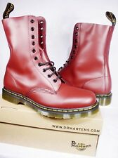 DR. MARTEN'S CHERRY RED LEATHER 1490 10 EYELET BOOT