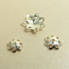10 x 925 STERLING SILVER Filigree FLOWER Spacer BEAD CAPS Findings 5mm/ 6mm/8mm