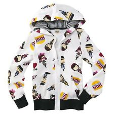 Harajuku Mini for Target Girls' Long Sleeve Hoodie Jacket White Gwen Stefani NWT