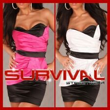 NEW SEXY SZ 6 8 10 12 COCKTAIL CLUB PARTY MINI STRAPLESS DRESS PINK BLACK WHITE
