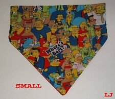 Over Collar Slide On Pet Dog Cat Bandana Scarf Bart Simpson The Simpsons