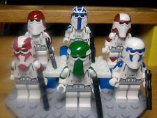 Lego Star Wars Snowtroopers Rex, Gree, Ponds, Denal,Bly,Keeli with Snow Speeder