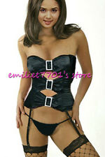 H1009 Sexy Strapless Corset Bustier Garters G-string Lingerie Tube Camisole Set