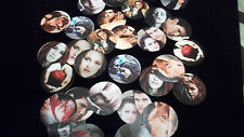 Pre Cut TWILIGHT VAMPIRE WEREWOLF One Inch Bottle Cap Images! MUST SEE