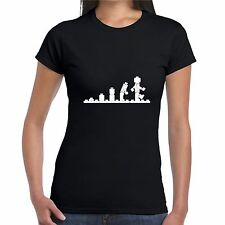 LEGO EVOLUTION T SHIRT girly T WOMENS LADY FIT retro funny great gift BNWT
