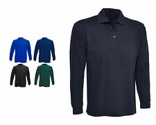 Mens Long Sleeve Classic Polo T Shirts Size XS to 4XL SPORTS WORK LEISURE - 113