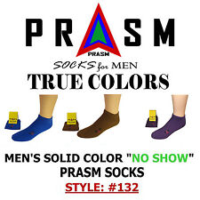 PRASM Mens No Show Ankle Cotton Sock Golf Sport Gym Casual - Solid Colors