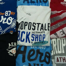 Aeropostale Graphic T Shirt Lot of 5 Mens Closeout A87 NY AERO Tee Shirts Men