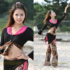 Brand New Belly Dance Costume Top&Pants 14 Color #EV
