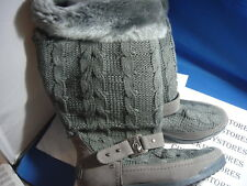 NIB  Baby Phat UZIMA Sweater Boot - Footwear DESIGNER BOOTS GREY OR BLACK
