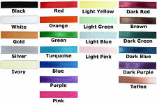 "Ribbon 1/4"" Satin Double faced sided, BY THE 3 YARDS, choose color, fast ship!!!"
