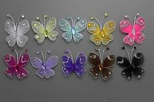12pc 3.5cm  Nylon Stocking Butterfly Wedding Decorations  Free Shipping