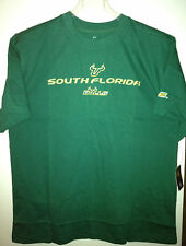 Mens University of South Florida Bulls T Shirt Tee Green Embroidered Graphic NWT