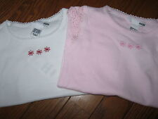 NWT H&M Embroidered Flower,Crocheted Lace Sleeve Shirt,Top Toddler Girl 2 A-3 A