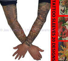 2 Fake Temporary Party Sun Protection  Realistic Tatoo Tattoo Arm Covers Sleeves