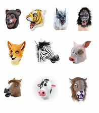 ANIMAL MASKS BEAR COW ELEPHANT HORSE LION TIGER PIG COW FANCY DRESS ACCESSORY