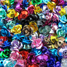 6mm,8mm,12mm Flower Rose Aluminum Spacer Bead 15Colors-1 Or Mixed R305