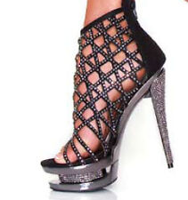 Barely Legal Criss Cross Rhinestone Pumps Offered by Hustler