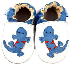 SOFT LEATHER BABY SHOES / PRAM SHOES 0-6, 6-12,12-18,18-24 Mths & 2-3 Yrs LIZARD