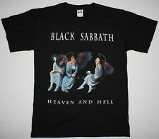 BLACK SABBATH HEAVEN AND HELL'80 OZZY DIO RAINBOW HEAVY BAND NEW BLACK T-SHIRT