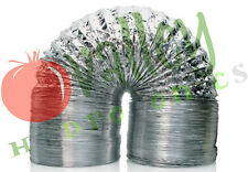 """Hydrofarm NON-INSULATED AIR DUCT 4"""" 6"""" 8"""" 10"""" 12"""" inch x 25' ft Ducting w Clamps"""