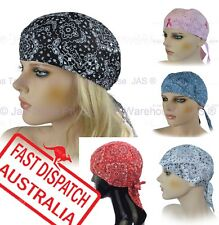 Cotton Fitted Bandana Durag Hat Headwrap Head Wrap Chemo Scarf Turban Paisley